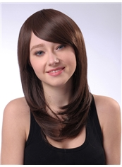 Latest 16 Inch Capless Straight Chocolate Synthetic Hair Cheap Wig