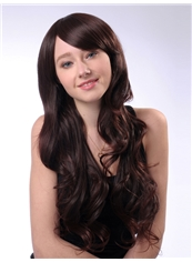 Elegance 24 Inch Capless Chestnut Brown Synthetic Hair Wig