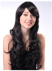 Super 24 Inch Capless Wave Black Synthetic Hair Cheap Wig