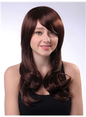 New 18 Inch Capless Wavy Chestnut Synthetic Hair Wig