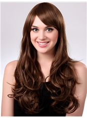 Cheap 22 Inch Capless Wave Chocolate Synthetic Hair Wig