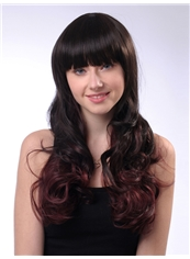 Glamorous 20 Inch Capless Wave Mixed Color Synthetic Hair Wig