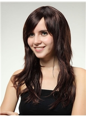 Modern 20 Inch Capless Wave Chestnut Brown Synthetic Hair Wig