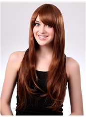 Best Fashion 24 Inch Capless Wave Golden Synthetic Hair Long Wig