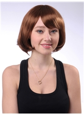 10 Inch Capless Short Wave Golden Synthetic Hair Wig