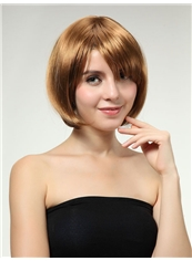 Graceful 10 Inch Capless Short Blonde Synthetic Hair Wig