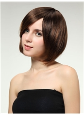 New 10 Inch Capless Straight Light Brown Synthetic Hair Bob Wig