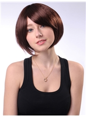 Boutique 10 Inch Capless Straight Brown Synthetic Hair Bob Wig