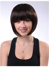 Beautiful 10 Inch Capless Chestnut Brown Synthetic Hair Short Wig