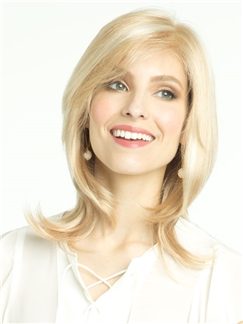 Sweety Short Wavy Blonde African American Capless 12 inch Human Wigs for Women