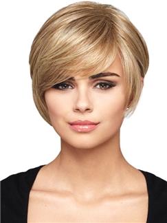 8 Inch Sweet Short Human Hair Wigs for Women