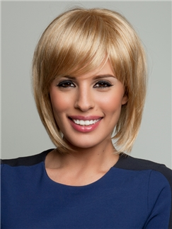 Perfect Short Straight Blonde 10 Inch 100% Human Hair Wigs
