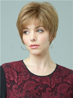 Short Straight Capless 100% Remy Hair Wigs