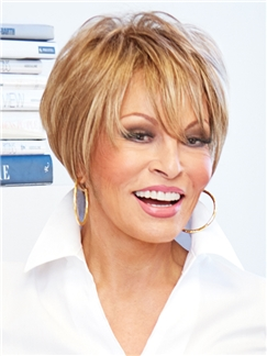 Raquel Welch Short Straight Blonde 8 Inch Human Hair Wigs
