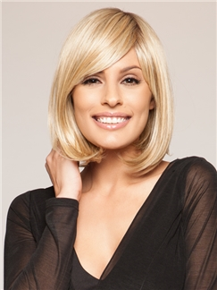 12 Inches Capless Indian Remy Hair Short Wigs