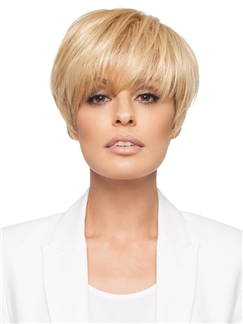 Dynamic Feeling from Short Straight Blode 6 Inch Remy Human Hair Wigs