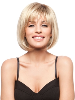10 Inches Capless Blonde  Remy Human Hair Wigs
