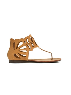 Casual Style Hollowed-out Coppyleather Sandals