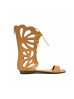 Casual Long Style Hollowed-out Coppyleather Sandals