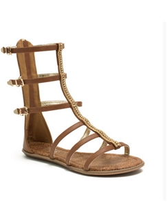 Simple Style Camel Color with Strap Buckle Sandals