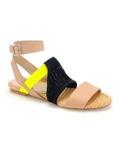 Multi-color Wedge-Platform Straps Sandals