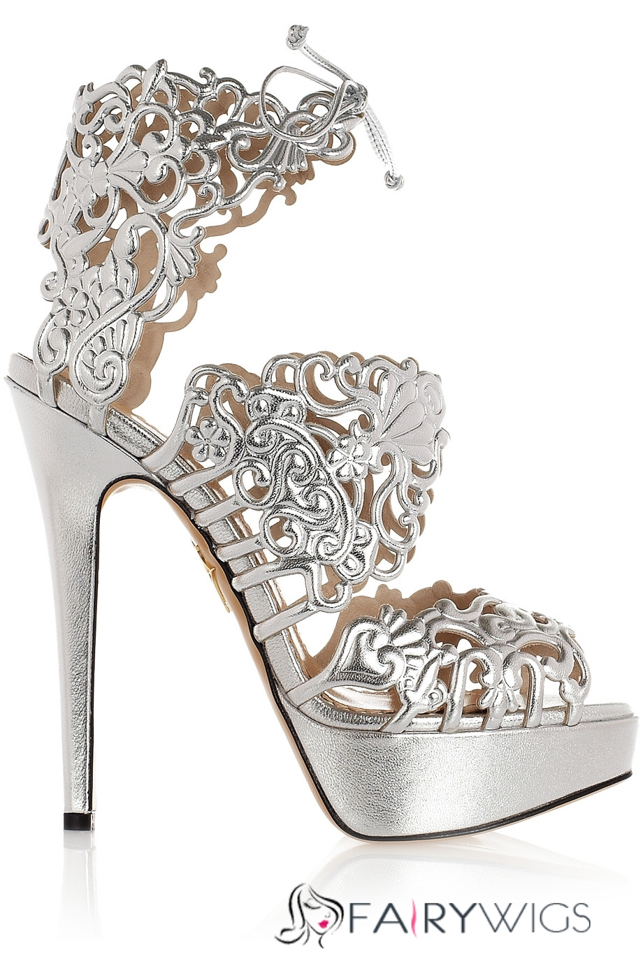 silver cut out rhinestone stiletto heel sandals. Black Bedroom Furniture Sets. Home Design Ideas