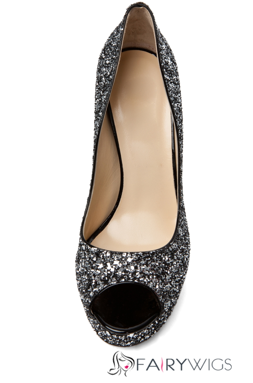 Classy Black Rhinestone Stiletto Heel Sandals Fairywigs Com