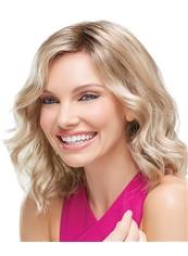 Best Short Wavy Blonde 100% Human Hair Capless Wig