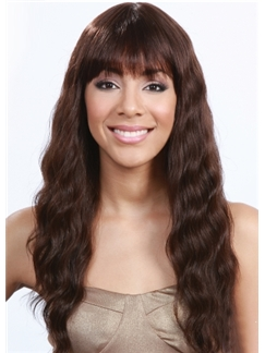 Elegant Long Loose Curly  African American Lace Wigs for Women