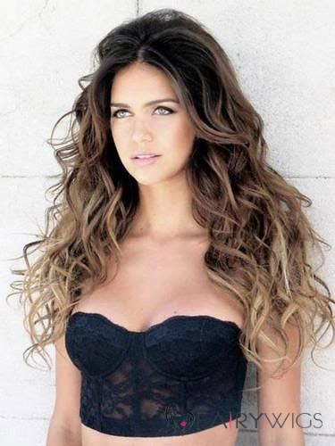 Sexy Lace Front Long Wavy Human Hair Wigs