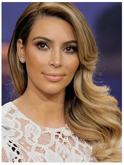 Elegant Lace Front Medium Wavy Human Hair Wigs