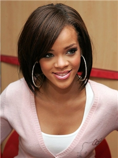 Exquisite Lace Front Short straight Human Hair Wigs