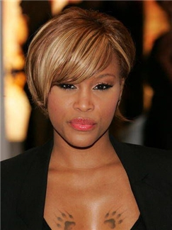 Modern Capless Short Straight Ombre Human Hair Wigs