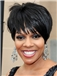 Popular Capless Short Straight Black Wigs