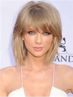 Pretty Capless Short Straight Blonde Human Hair Wigs