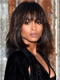 Ingenious Medium African American Celebrity Hairstyle Human Hair