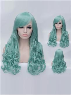 Romantic Receda wavy Side Bang Synthetic Wig