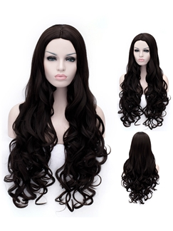 Affordable Long  Wavy Black Capless Wigs for Women