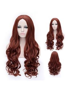 Sexy Long Dark Brown Capless Wavy Wigs