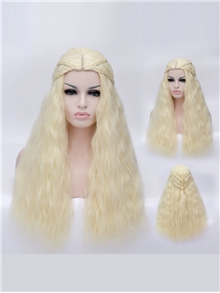 A Song of Ice and Fire Denis Costume Long Golden Wig