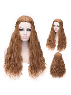 A Song of Ice and Fire Denis Costume Long Brown Wig