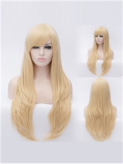 Faddish Long Bloded Female Wavy Layered Hairstyle