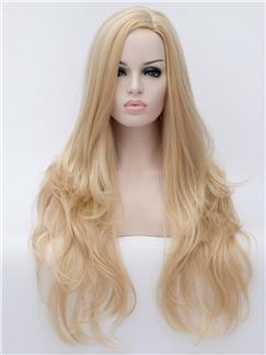 Best Long Wavy Light Blonde 100% Synthetic Wigs for Women