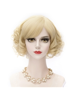 Japanese Lolita Light Blonde Cutosplay Wigs 12 Inches