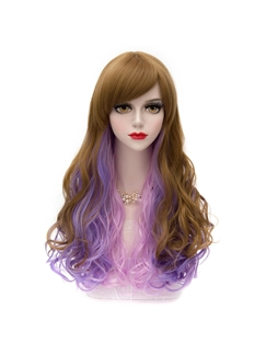 Japanese Long Wave Mixed Color Cosplay Wigs