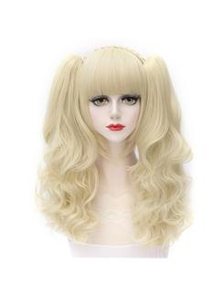 Lovely Short Wave Light Blonde Lolita Wig with Ponytails