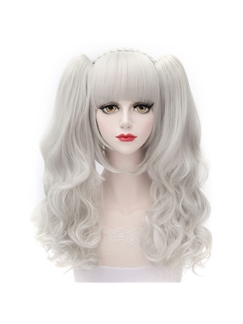Shinning Cosplay Doll White Lolita Wig with Ponytails