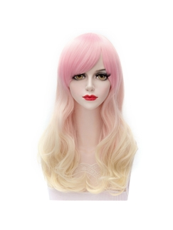Grace Long Wave Pink with Blonde Lolita Wig