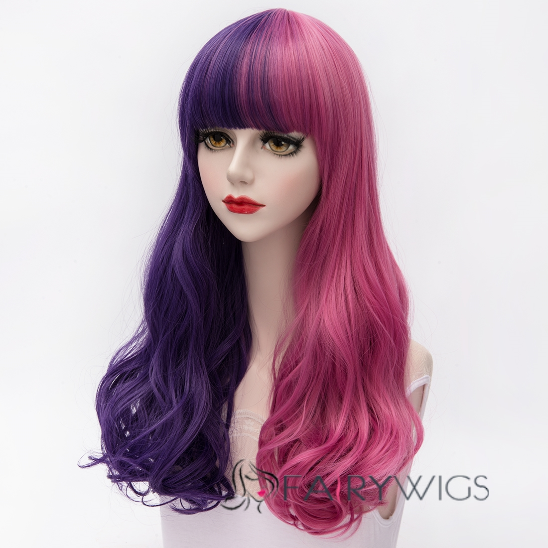 Japanese Lolita Style Gradient Color Cosplay Wigs