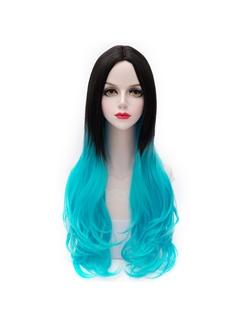 Grandient Black and Blue Wave Lolita Wig